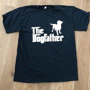 The Dogfather Labrador Navy Blue Tee Shirt L EUC